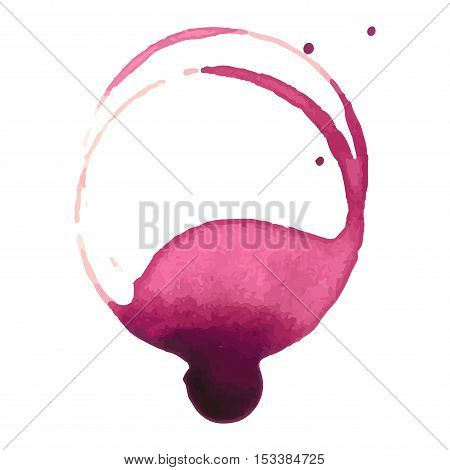 Wine staiin spots splashes cup vector isolated on white background. Wine spots splash vector.
