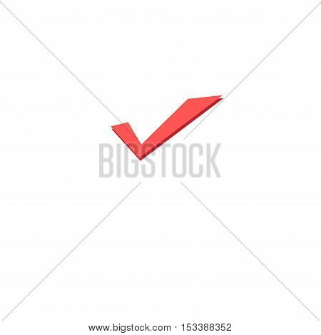 Vector icon okay isolated on white background