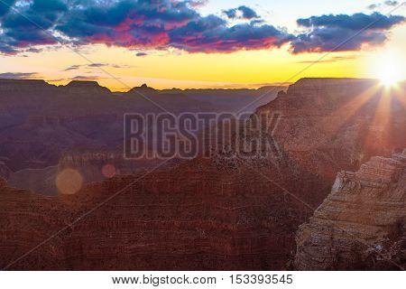Serene Sunrise At Grand Canyon