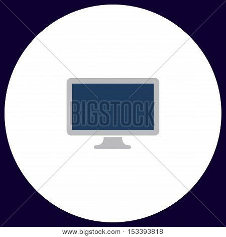 Monoblock PC Simple vector button. Illustration symbol. Color flat icon