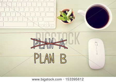 Plan B Concept With Workstation