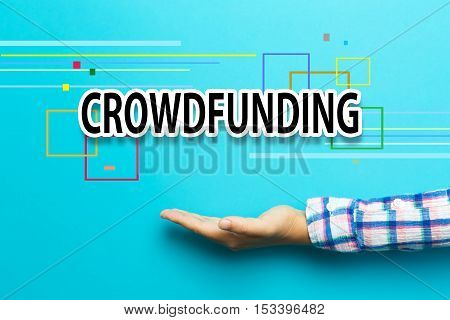 Crowdfunding Concept With Hand