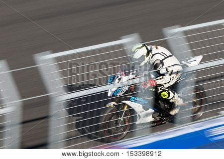 MELBOURNE AUSTRALIA – OCTOBER 23: Sunday morning action during the 2016 Michelin Australian Motorcycle Grand Prix at 2106 Michelin Australian Motorcycle Grand Prix Australia on October 23 2016.
