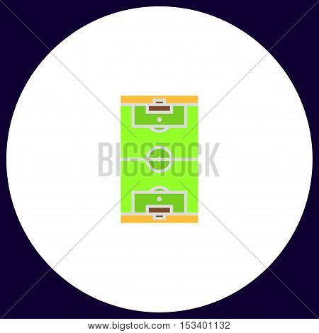 football field Simple vector button. Illustration symbol. Color flat icon