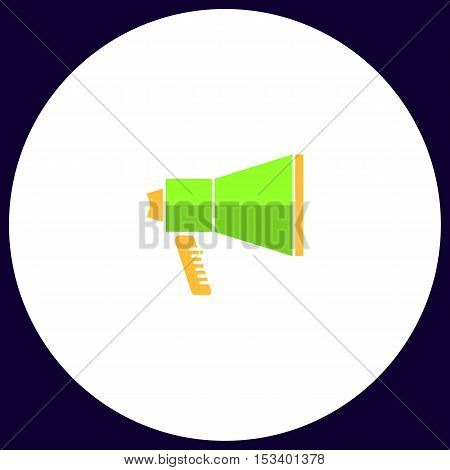 mouthpiece Simple vector button. Illustration symbol. Color flat icon