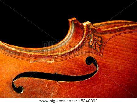 Part of vintage violin
