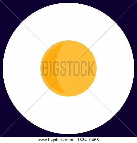 lunation Simple vector button. Illustration symbol. Color flat icon