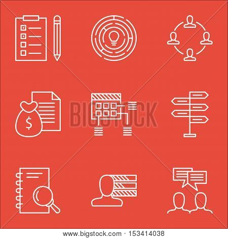 Set Of Project Management Icons On Analysis, Innovation And Opportunity Topics. Editable Vector Illu