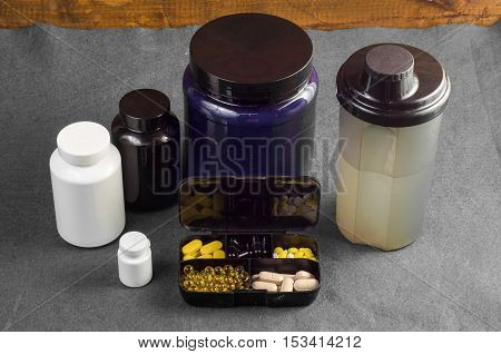 Sport and Fitness Supplement on a background