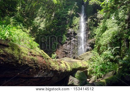 Waterfall in the forest near Khun Dan Dam island Thailand