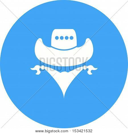 Bandit, cowboy, west icon vector image. Can also be used for wild west. Suitable for mobile apps, web apps and print media.