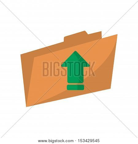 Upload arrow and file icon. Digital web application and technology theme. Isolated design. Vector illustration