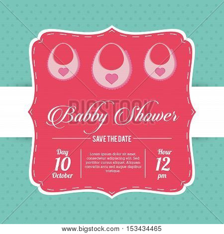 Bib icon. Baby shower card and childhood theme. Colorful design. Vector illustration