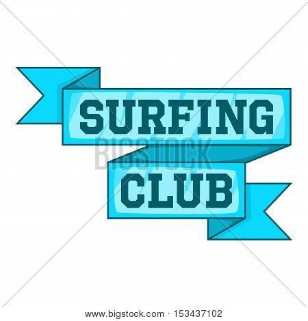 Surf club emblem icon. Cartoon illustration of surf club emblem vector icon for web design