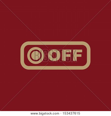 The off button icon. Off switch symbol. Flat Vector illustration. Button