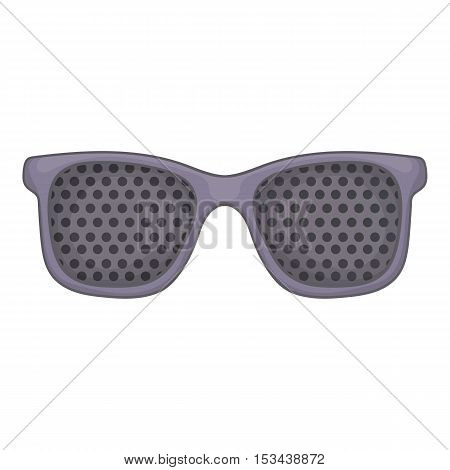 Perforating glasses icon. Cartoon illustration of perforating glasses vector icon for web design