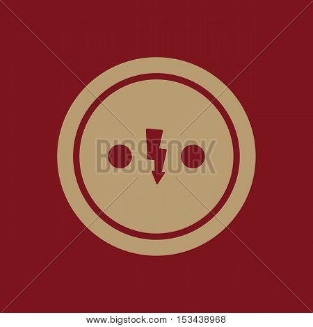 The Electrical Outlet icon. Socket symbol. Flat Vector illustration