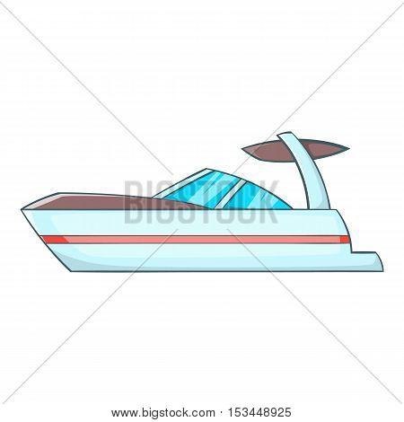 Sailing boat icon. Cartoon illustration of sailing boat vector icon for web