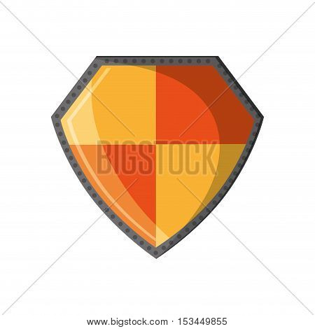 Shield icon. security system protection shape and emblem theme. Isolated design. Vector illustration