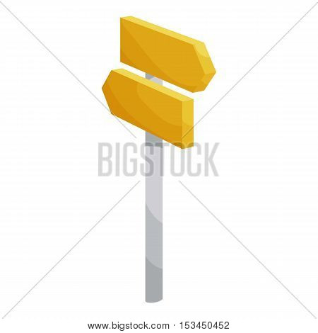 Road signpost icon. Cartoon illustration of road signpost vector icon for web