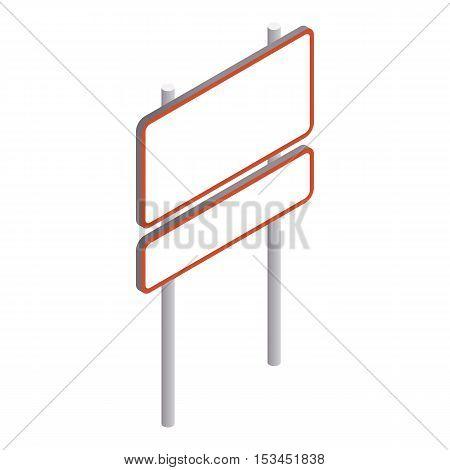 Rectangular road sign icon. Isometric 3d illustration of rectangular road sign vector icon for web
