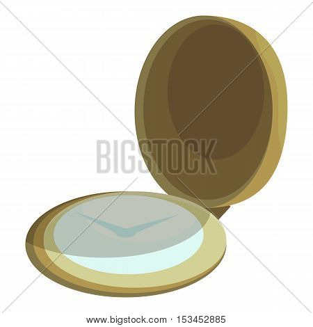 Pocket watch icon. Cartoon illustration of pocket watch vector icon for web