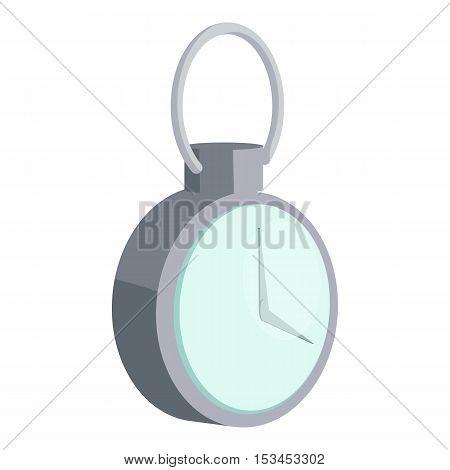 Mechanical pocket watch icon. Cartoon illustration of mechanical pocket watch vector icon for web