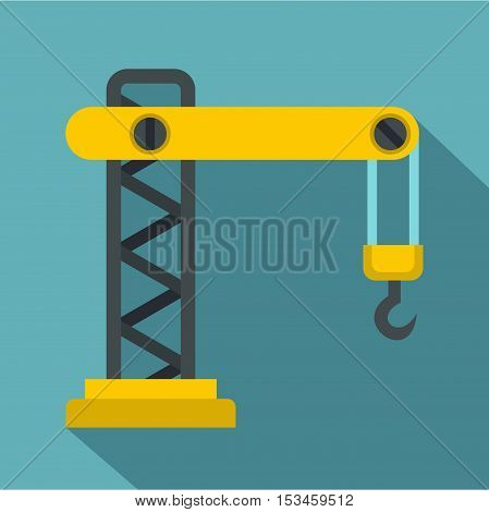 Crane icon. Flat illustration of crane vector icon for web