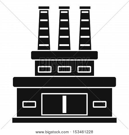 Large oil refinery icon. Simple illustration of large oil refinery vector icon for web