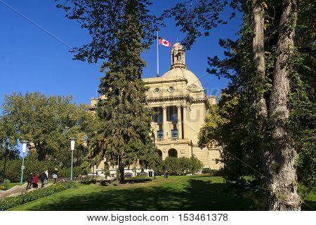 Edmonton, Canada - September 13, 2016: Legislative Assembly Of A