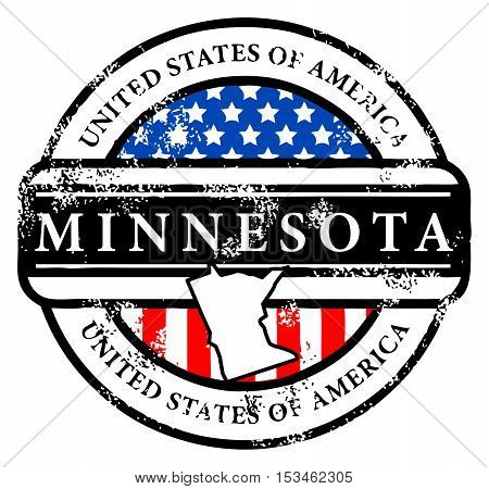Grunge rubber stamp with name of Minnesota, vector illustration