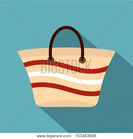 Women beach bag icon. Flat illustration of women beach bag vector icon for web