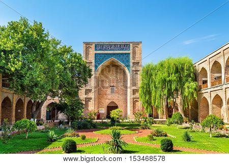 Kukeldash Madrasah, a medieval madrasa in Tashkent, Uzbekistan