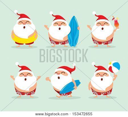 Collection of Christmas Santa Claus