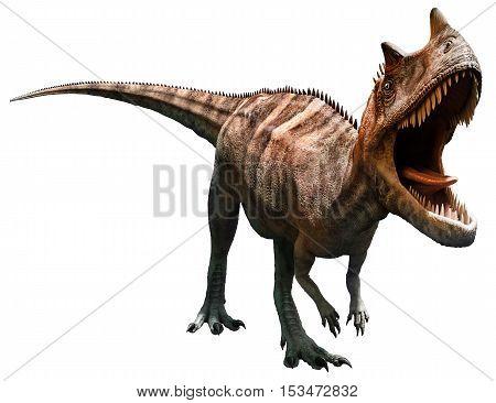 Ceratosaurus from the Jurassic era 3D illustration