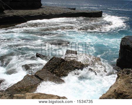 Surf Crashing On Rocks