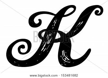 Letter K Calligraphy Vector Photo Free Trial Bigstock