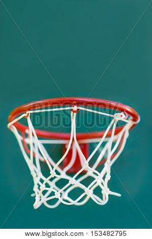Basketball basket on children's playground in the yard of house