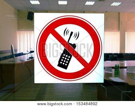 the a sign a forbidding phone conversation