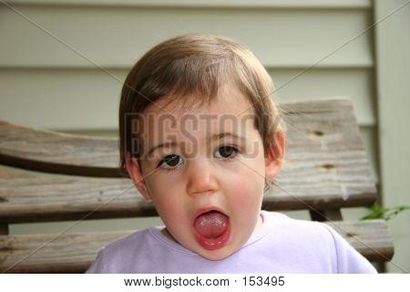 Baby Girl Saying Aah