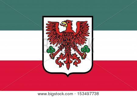 Flag of Gorzow Wielkopolski city in Lubusz Voivodeship in western Poland