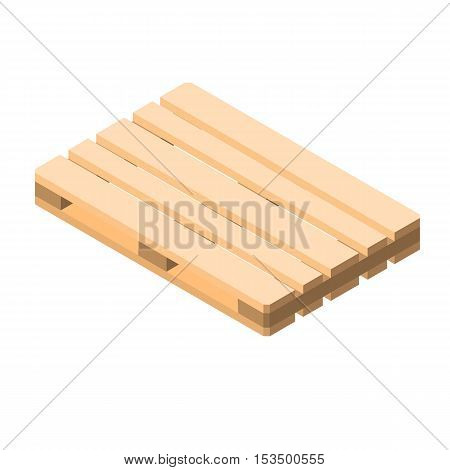 Euro pallet isometric vector illustration of isolated on white background