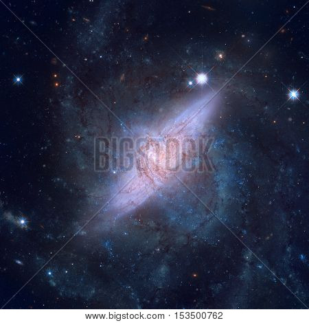 Spiral Galaxies In The Constellation Hydra.