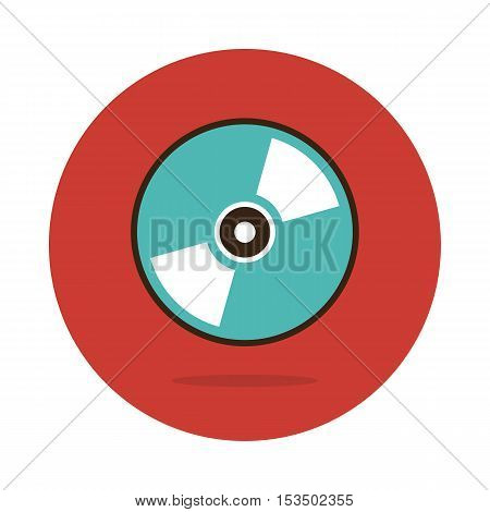 Vector CD or DVD icon vector illustration eps 10
