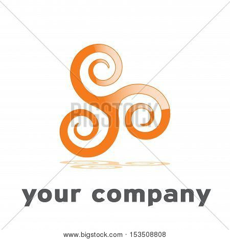 Vector logo convergence of ideas concept, illustration isolated