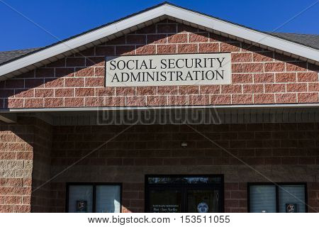 Anderson - Circa October 2016: Local Branch of the Social Security Administration. The SSA administers retirement disability and survivors benefits III