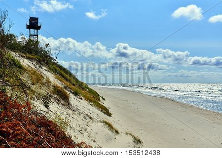Russian part of Curonian Spit in summertime. Curonian spit is the most popular destination of the Kaliningrad region. It is a UNESCO World Heritage Site. Russia