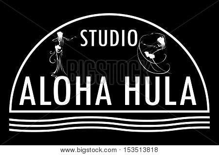 Hawaii vector logo design template.Studio aloha hula icon.