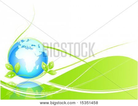 Ecology abstract background