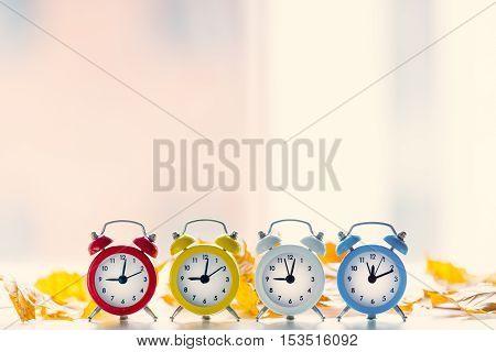 Four Vintage Alarm Clocks